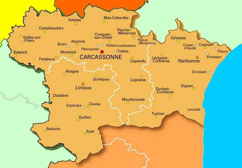Carcassonne Carte De La Ville
