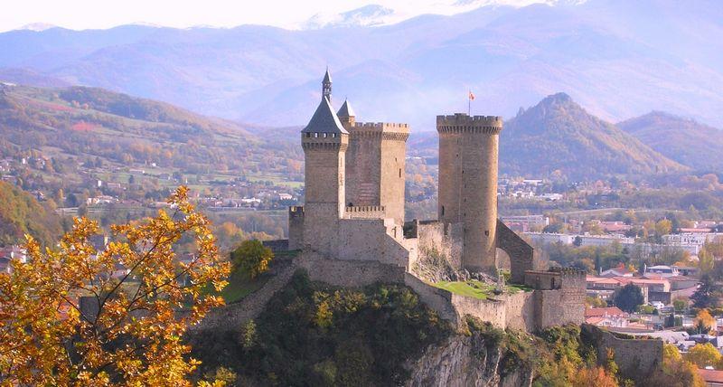 Château de Foix dans l'Ariège