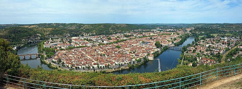 La ville de Cahors dans le lot en région Occitanie