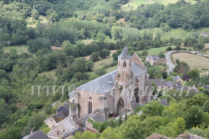 l'église st jean de Najac vu de la forteresse