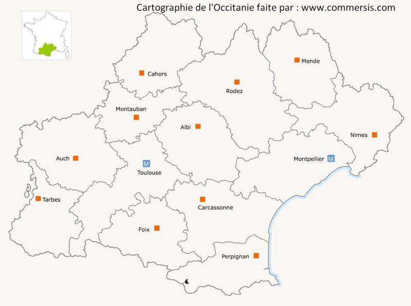Départements de l'Occitanie