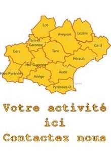 Les treize départements d'Occitanie