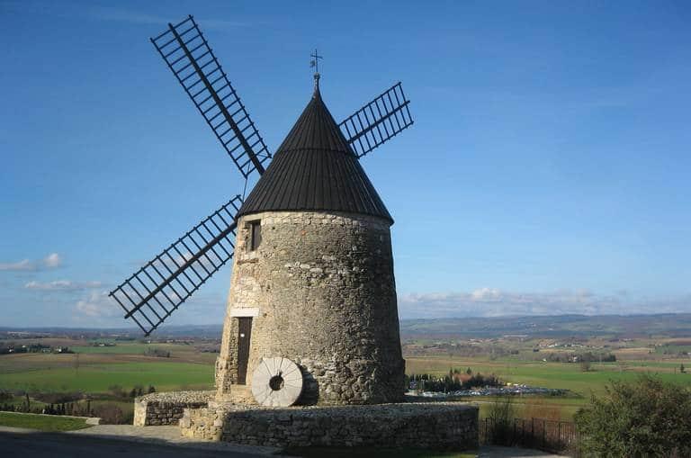 Le moulin de Cugarel à Castelnaudary dans l'Aude