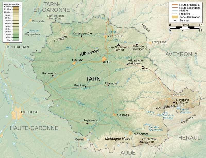 Cartographie du Département du Tarn