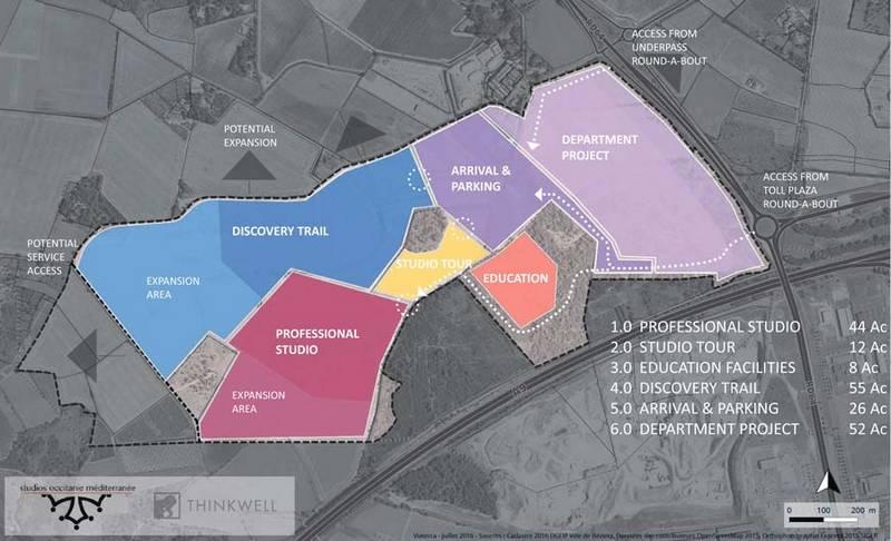 Projet du parc d'attraction sur le domaine de Bayssan